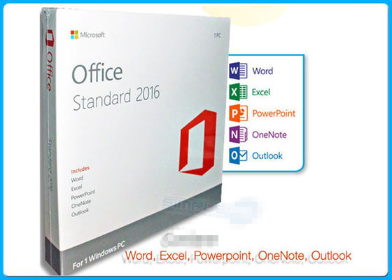 China On-line-Prostandardlizenz 1 Aktivierungs-Microsoft Offices 2016 PC DVD fournisseur