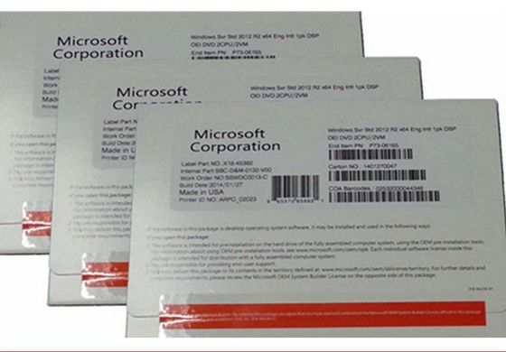 China Englisch/Standard R2 64 Deutschland-Versions-Microsoft-Server-2012 BIT DVD usine