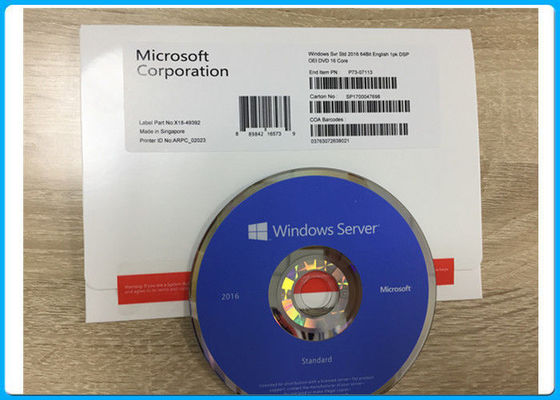 Microsoft-Software-Schlüssel- Code-Windows Server 2016 Standard-64bit KERN Soems 16