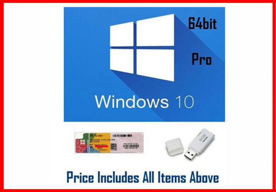 China Bit des Gewinn 10 Pro-Soem Software-/Windows 10 Produkt-Schlüsselcode-64 mit DVD usine
